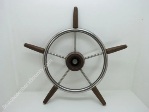 Authentic 18 inch Stainless Steel & Plastic Boat Wheel -(XL11-2497)
