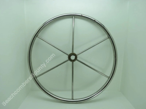 Authentic 20+1/2 inch Stainless Steel Boat Wheel -(XR4-2940)