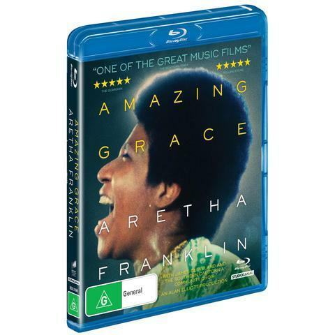 ARETHA FRANKLIN - AMAZING GRACE BLU-RAY, NEW & SEALED, 2019 RELEASE, FREE POST.