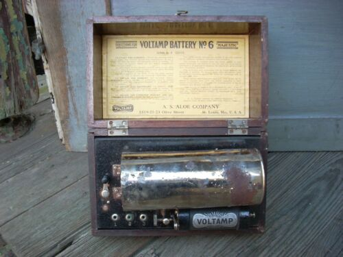 Antique VOLTAMP Battery No 6 Electrotherapy Device A. S. ALOE Co. St. Louis, MO