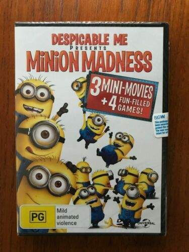 Despicable Me Minion Madness DVD Region 4 New & Sealed