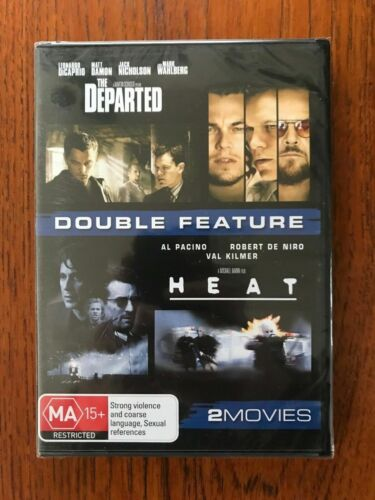 The Departed / Heat DVD Region 4 New & Sealed