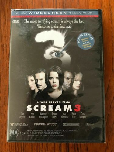 Scream 3 DVD Region 4 New & Sealed