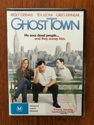 Ghost Town DVD Region 4 New & Sealed Ricky Gervais, Tea Leoni