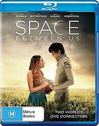 THE SPACE BETWEEN US BLU RAY - NEW & SEALED GARY OLDMAN,SCI FI ROMANCE FREE POST