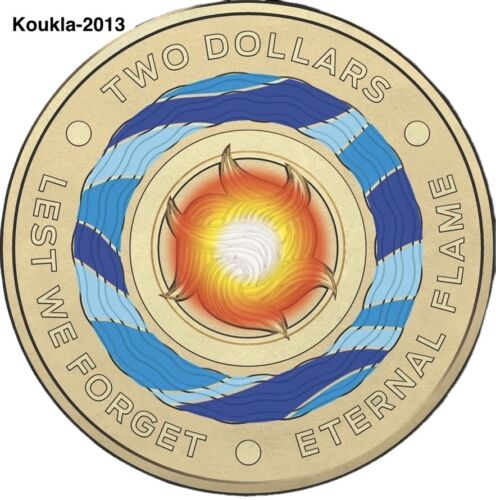 2018 $2 dollar Coin - Lest We Forget - Eternal Flame