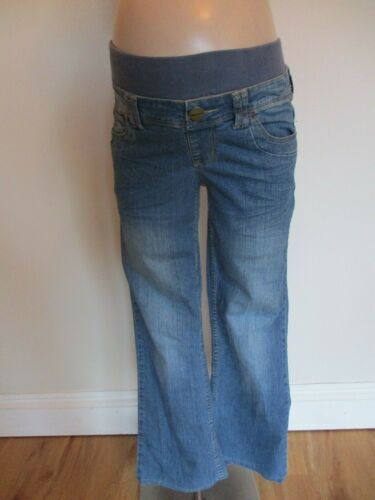 NEW LOOK YES YES MATERNITY BLUE UNDER BUMP DENIM BOOTCUT JEANS SIZE 10