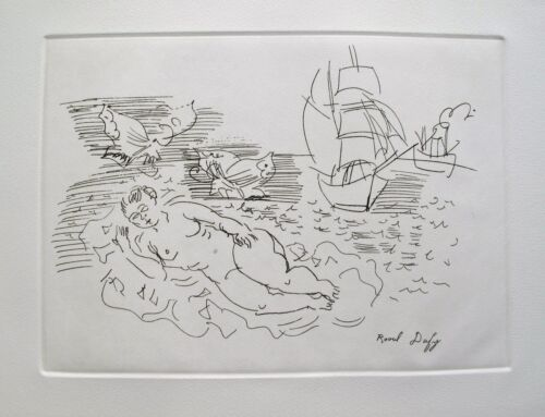 Raoul Dufy ON THE BEACH Art Etching Signed in the Plate with Certificate
