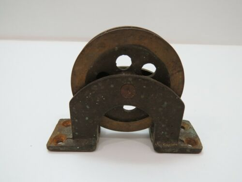Bronze Deck Pulley 3+1/4 inch Wheel Cable Rope (C4B358)
