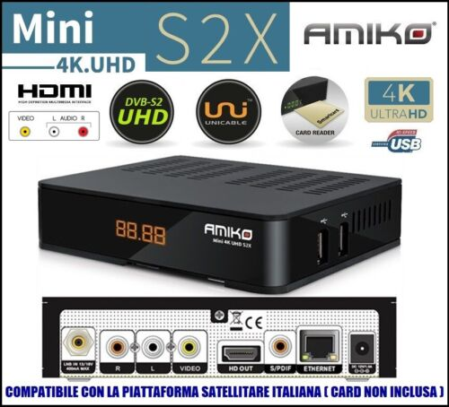 Decoder Satellitare Compatibile Tivusat Tivu Sat Tessera Non Inclusa HD 1080p
