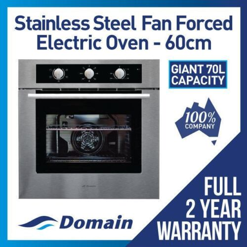 NEW 60cm STAINLESS STEEL FAN FORCED ELECTRIC WALL OVEN <br/> BONUS 12% OFF AUTO APPLIED AT CHECKOUT - BE QUICK