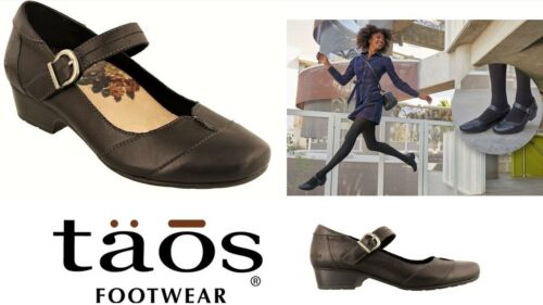 Taos Shoes Balance Taos Footwear leather comfort dress heels with strap Balance