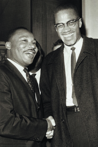 THE MEETING - MALCOLM X & MLK POSTER - 24x36 - 9355