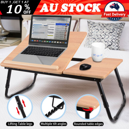 Laptop Stand Desk Lap Bed Sofa Tray Table Computer Portable Foldable Adjustable