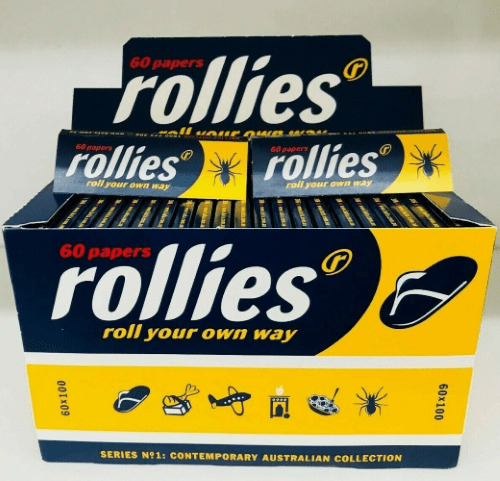 100 x 60 ROLLIES Tobacco Cigarette Rolling Roller Filter Paper Papers