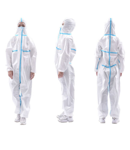 Disposable Overalls Protective Suit for Painting Polishing Jumpsuit Hooded Boots