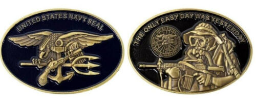 US NAVY SEAL TEAM COIN THE ONLY EASY DAY WAS YESTERDAY 1,2,3,4,5,7,8,10,17,18 ANavy - 66533