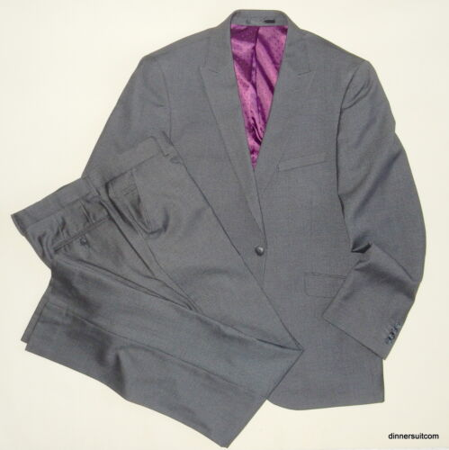 "mens UK 42"" 36x33 T&W TAYLOR & WRIGHT 2 Piece suit Dark grey Dog tooth SUPERB"