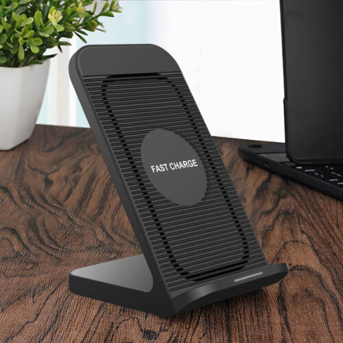 US 10W Fast Qi Wireless Charger Stand Cooling Fan For iPhone 11 11Pro 8 X XS XR