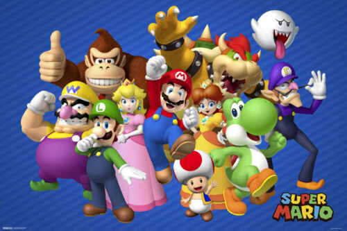SUPER MARIO - CHARACTERS POSTER 24x36 - 49410