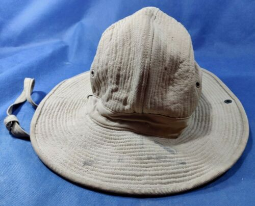VINTAGE 50'S IDF ZAHAL SOLDIER KHAKI HAT STETSON FRENCH MADE - DUVOIR LE MANSOther Militaria - 135