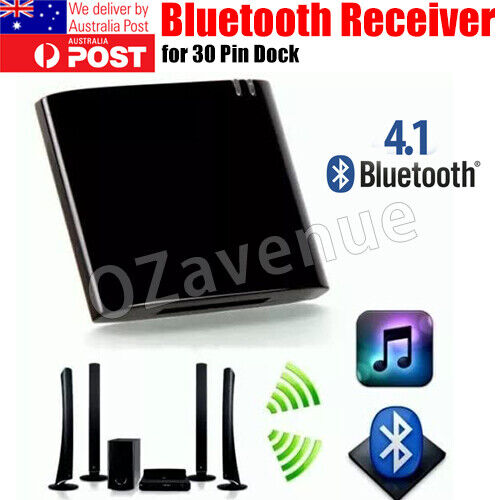30Pin Bluetooth V4.1 Music Audio Receiver Stero Adapter For Bose Sounddock AU