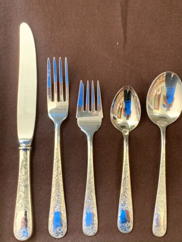OLD MARYLAND ENGRAVED BY KIRK  STERLING FLATWARE  SET FOR 4 BY 5 WITH PLACE SOUP
