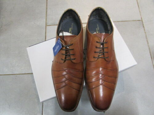 MENS TAN LEATHER LACE UP SHOE SIZE 9