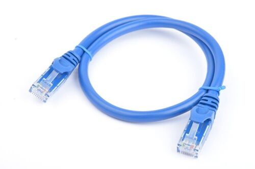 8Ware Cat6a UTP Ethernet Cable 25cm Snagless Blue