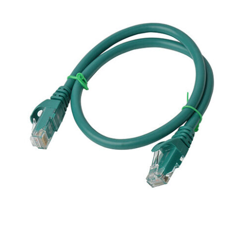 8Ware Cat6a UTP Ethernet Cable 25cm Snagless Green