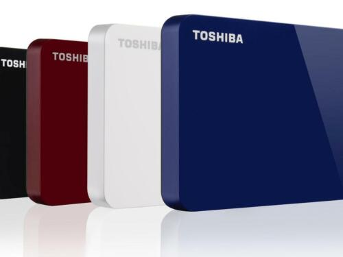 Toshiba Canvio Advance 4TB External Portable USB Hard Drive HDD Red Blue White