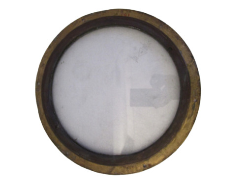 VINTAGE ship's BRASS PORT HOLE / Window / Porthole - 8 INCHES GLASS (161)