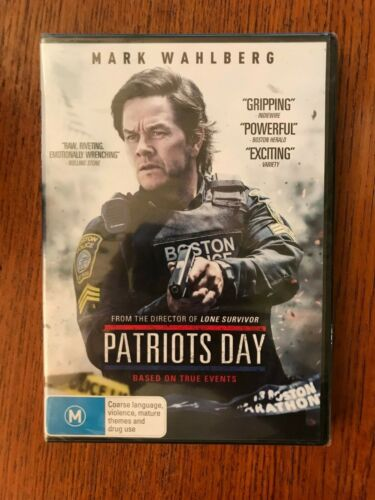 Patriots Day DVD Region 4 New & Sealed Mark Wahlberg