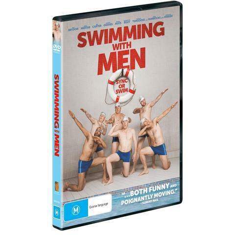 SWIMMING WITH MEN DVD, NEW & SEALED, 2019 RELEASE, FREE POST