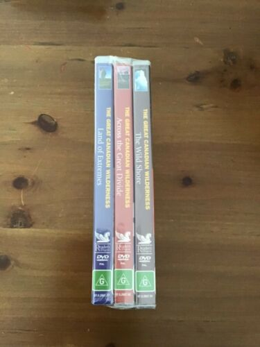 THE GREAT CANADIAN WILDERNESS 3 x DVD'S DOCUMENTARY NEW SEALED THE WILD SHORE