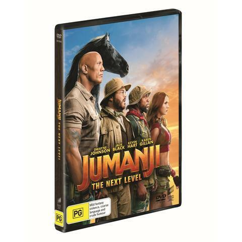 JUMANJI THE NEXT LEVEL DVD, NEW & SEALED, ** NEW RELEASE ** FREE PRIORITY POST