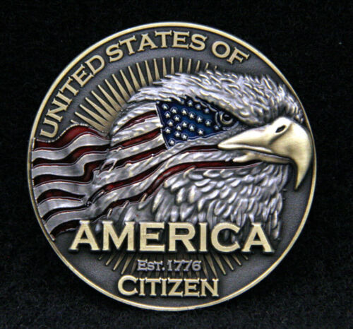 UNITED STATES OF AMERICA CITIZEN COIN US Citizenship NATIONAL ANTHEM PIN UP GIFTMarine Corps - 66531