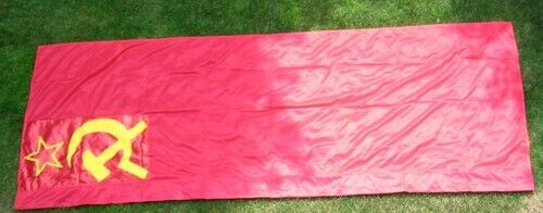 East German Made Side Mounted Soviet State Flag for State Visits Size 300 x 120 Original Period Items - 13983
