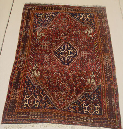 ANTIQUE QASHQ'AI RUG (F009)