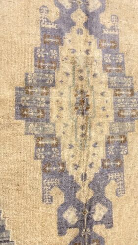 """Bohemian Antique 1940's Muted Dye Distressed Wool Pile Oushak Area Rug 8'1""""x4'8"""""""