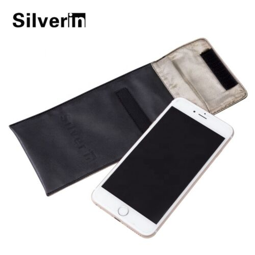 Cell Phone Anti Radiation Silver Pouch Portable Waterproof EMF Case NEW