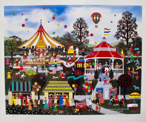 Jane Wooster Scott CANDIED APPLES CANDY CORN Hand Signed Ltd Edition Lithograph