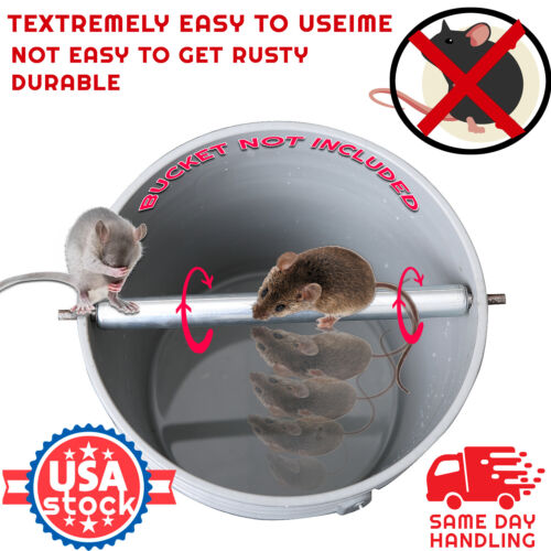 Stainless Steel Mice Rats Mouse killer Roll Trap log Grasp Bucket Rolling Roller <br/> ✔Stainless Steel Surface ✔US Seller