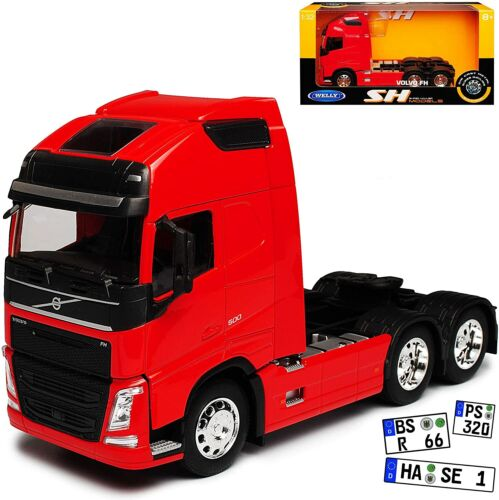 WELLY 1:32 VOLVO CAMION FH ROUGE 6X4.  EN METAL