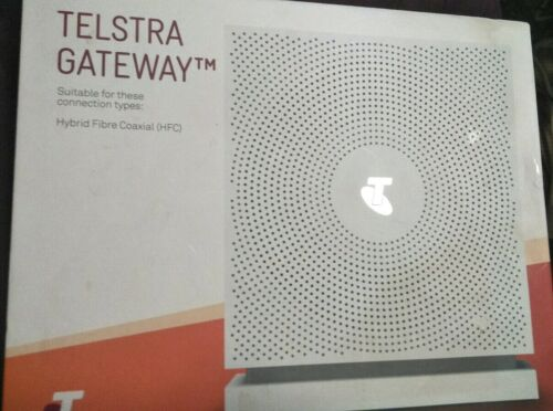 Sagemcom FAST 5355 Modem Genuine TELSTRA Gateway GC White Hybrid Fibre Coaxial