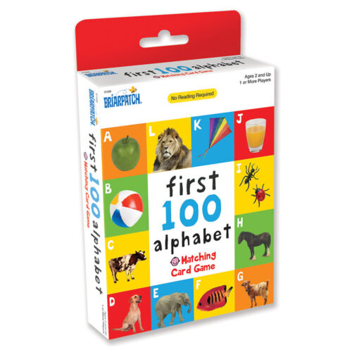 First 100 Alphabet Matching Card Kids/Toddler Educational/Memory Game 2y+