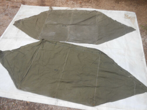 U.S.ARMY:-1945 TENT,2 X 1/2 Pup Tent,Shelter with triangular ends on both sides Field Gear, Equipment - 4721