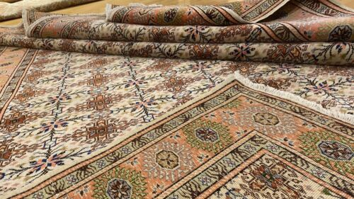 """Early 1930's Antique Wool Pile Vegy Dye Hand-Knotted Bunyan Area Rug 6'7""""x9'6"""""""