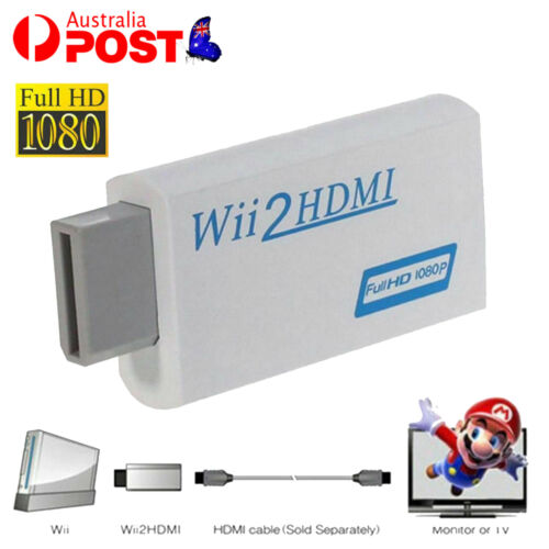 For Wii2HDMI Wii To HDMI 1080P Converter 3.5mm Adapter Audio HD Video Output AU