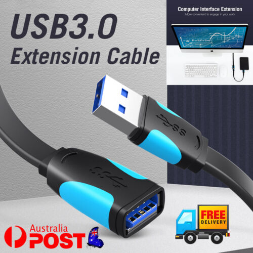 Fast Speedy Vention USB 3.0 Data Extension Male to Female Cable 1m 1.5m 2m 3m /